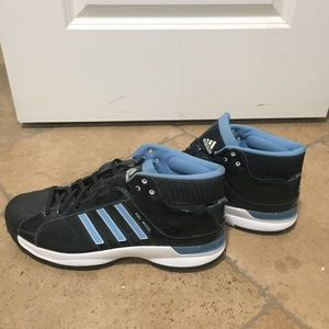 Adidas size 15 high top black basketball shoes